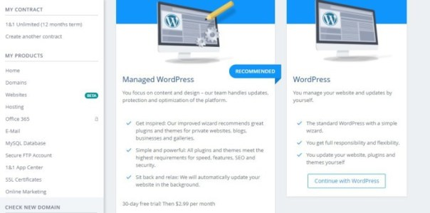 Blog WordPress 1&1