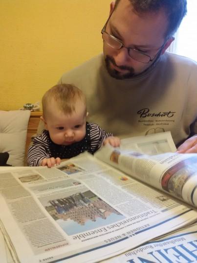 Früh übt sich wer eine Leseratte werden will...