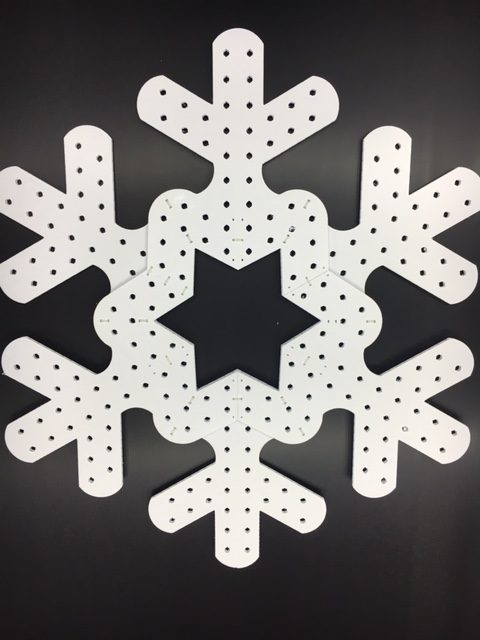 "Living Light Shows 35"" Pixel Snowflake"