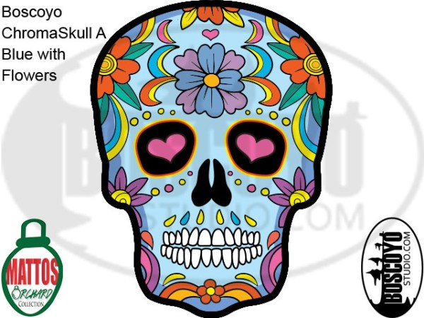 DayCor™ HiRes ChromaSkull A Blue with Flowers
