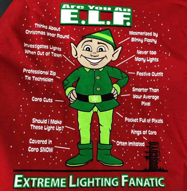 E.L.F. T-shirt (short sleeve)-RED