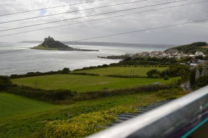 Past the majestic St Michaels Mount