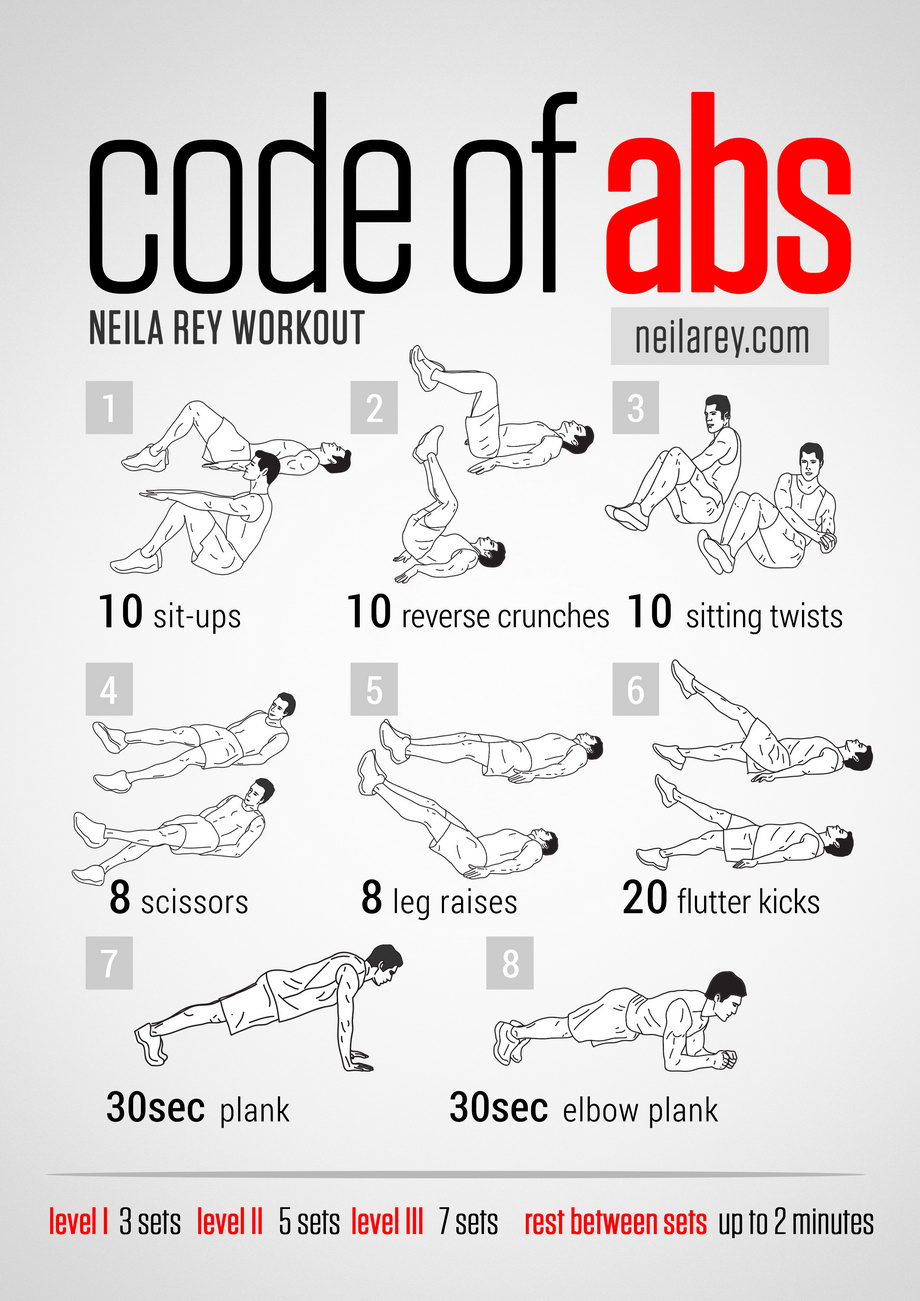 neila rey abs workout