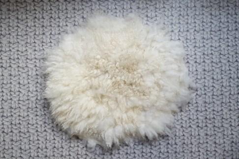 kleine gevilte schapenvacht 50cm