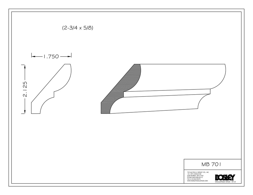 chair rail profiles clear desk chairs bosley moulding stocked mouldings