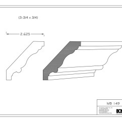 Chair Rail Profiles Childrens Plastic Chairs Bosley Moulding Stocked Mouldings