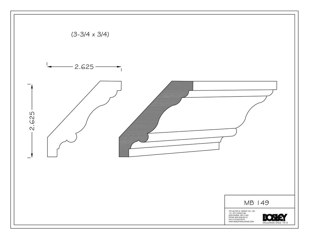 chair rail profiles wheel karachi bosley moulding stocked mouldings
