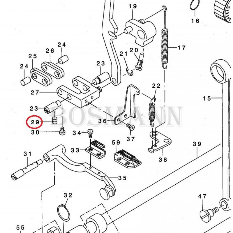 SS-8150710-SP Śrubka łącza regulacji przesuwu do stębnówki