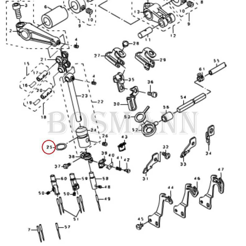 RO-1082401-00 Oring tulei igielnicy do overlocka MO6700