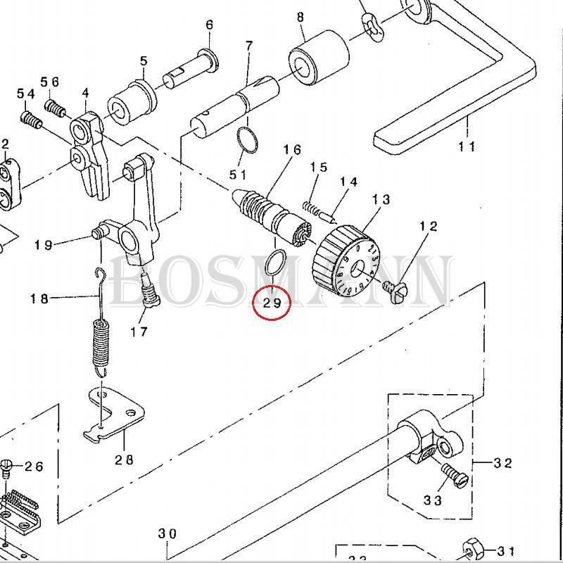 RO-0781901-00 Uszczelka do pokrętła regulacji ściegu do