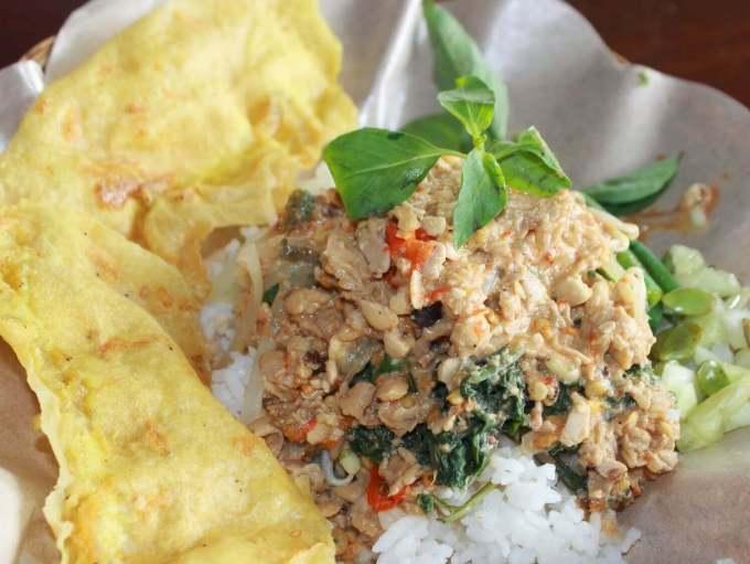 Makanan Khas Kediri Nasi Pecel Sambel Tumpang