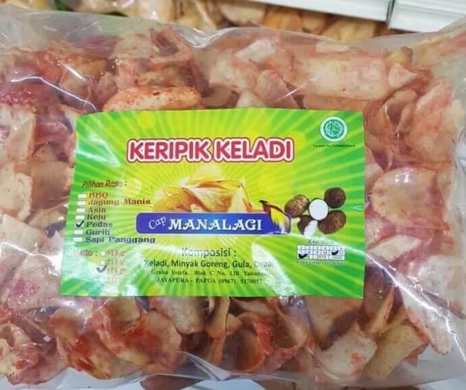 Makanan Khas Papua Keripik Keladi