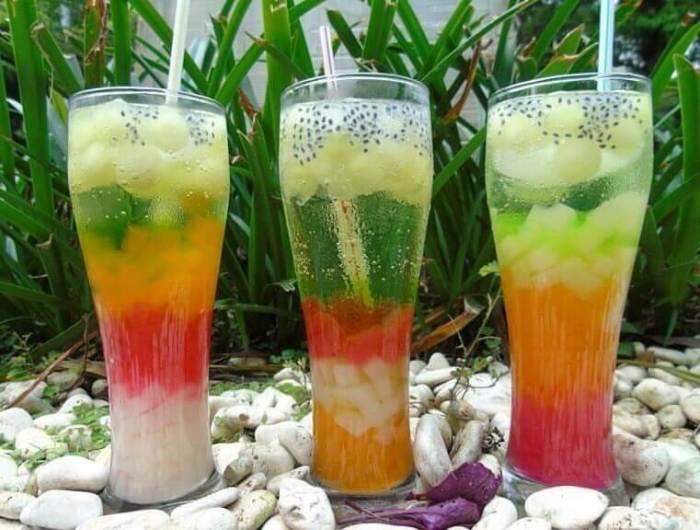 Makanan Khas Melayu Es Air Mata Pengantin