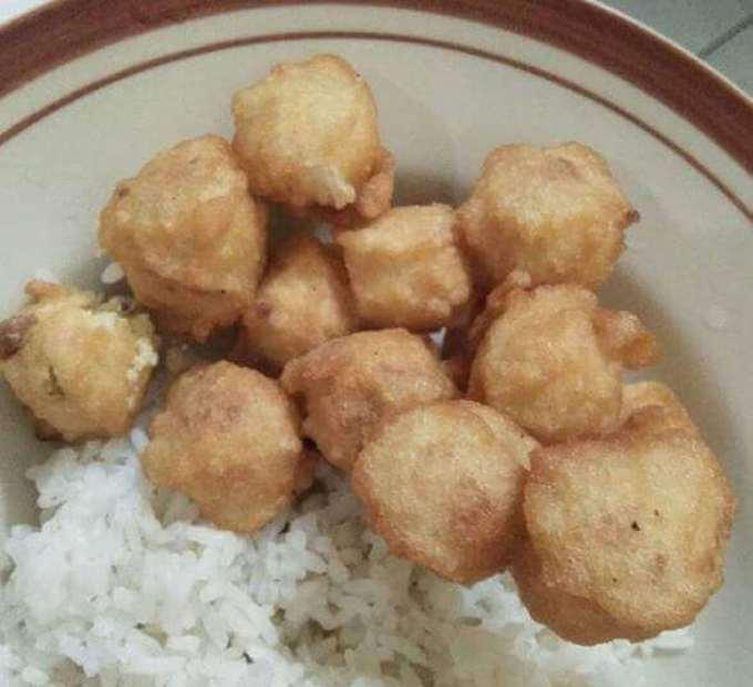 makanan khas banyumas tomplo atau Templek