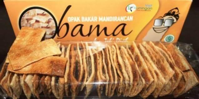 camilan sehat makanan khas kuningan Jawa Barat opak bakar