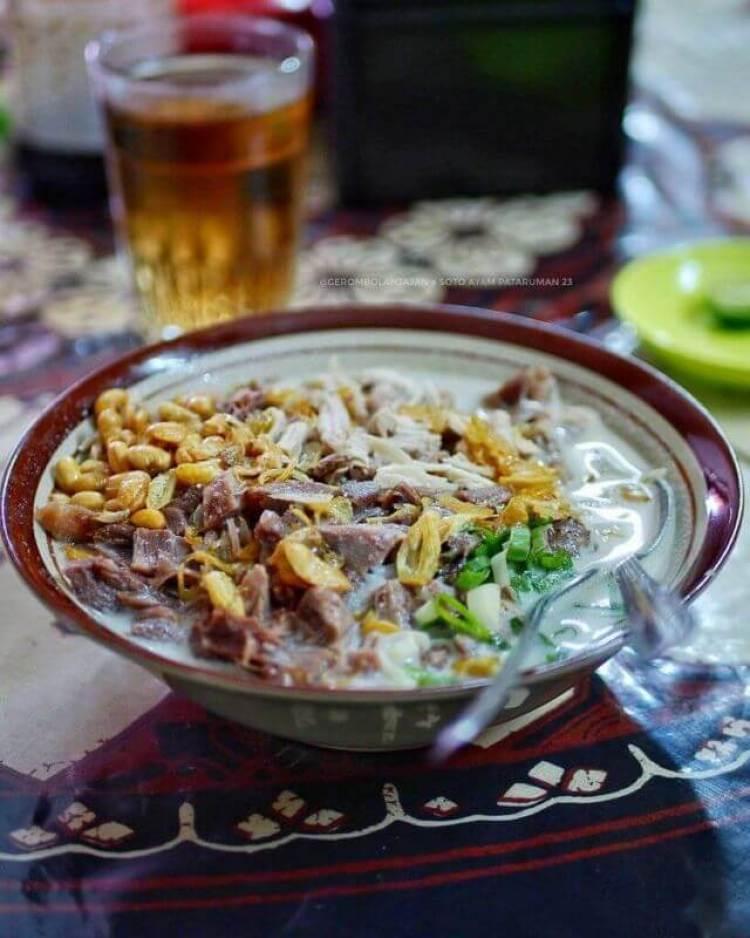 minuman dan makanan khas tasikmalaya soto pataruman