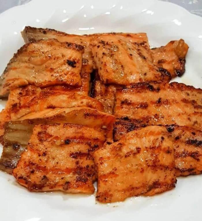 Resep Masakan Sehat Steak Salmon Saus Lemon/ Salmon Panggang