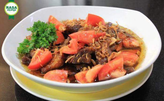 makanan khas sukabumi leor daging