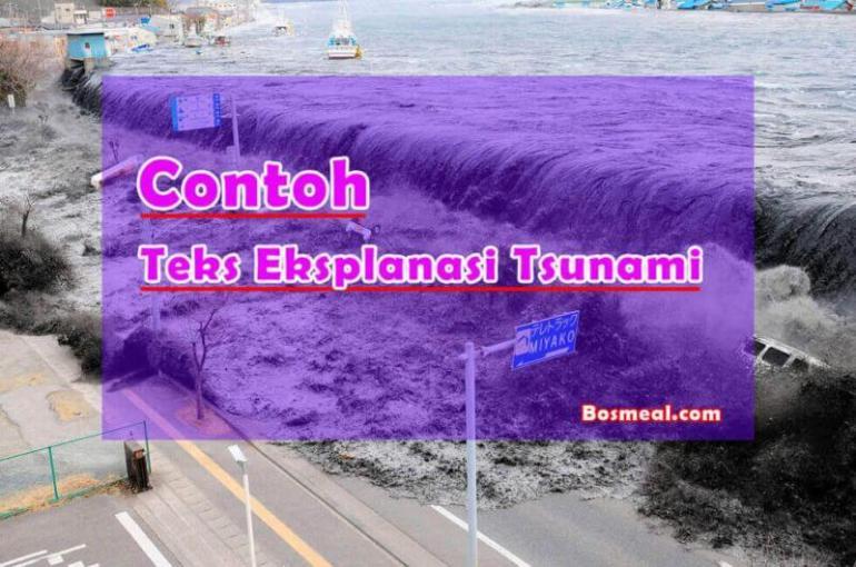 Contoh Teks Eksplanasi Singkat Tsunami - Bosmeal.com