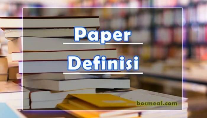 Jenis Paper Definisi