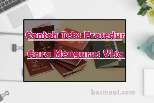 Contoh Teks Prosedur Kompleks Cara Mengurus Visa