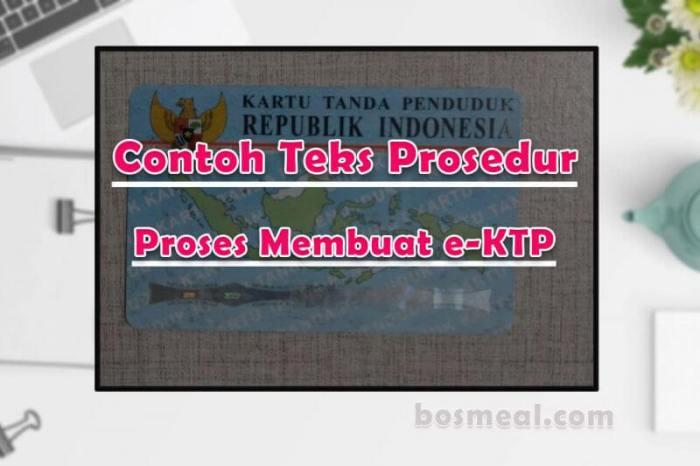 Contoh Teks Prosedur Kompleks Proses Membuat e-KTP