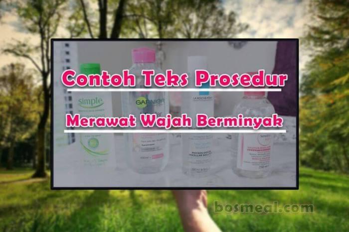 Contoh Teks Prosedur Protokol Tips Merawat Wajah Berminyak