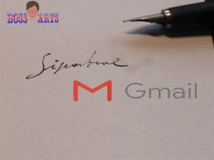 Créer une signature Gmail, ajouter signature sur Gmail par Boss Arts