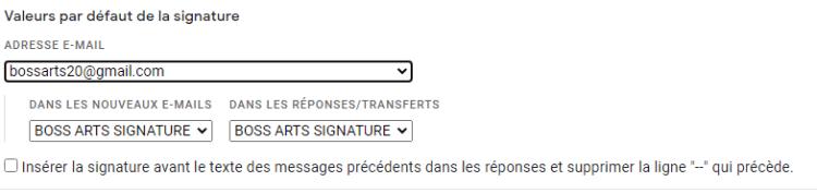 choisir la signature voulue automatiquement et apposer la signature sur vos mails lors de l'envoi et aussi lors des réponses par Boss Arts