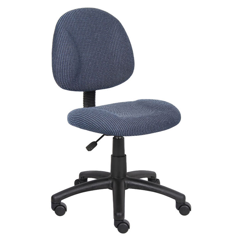 posture deluxe chair poly wood chairs boss perfect office task without arms blue