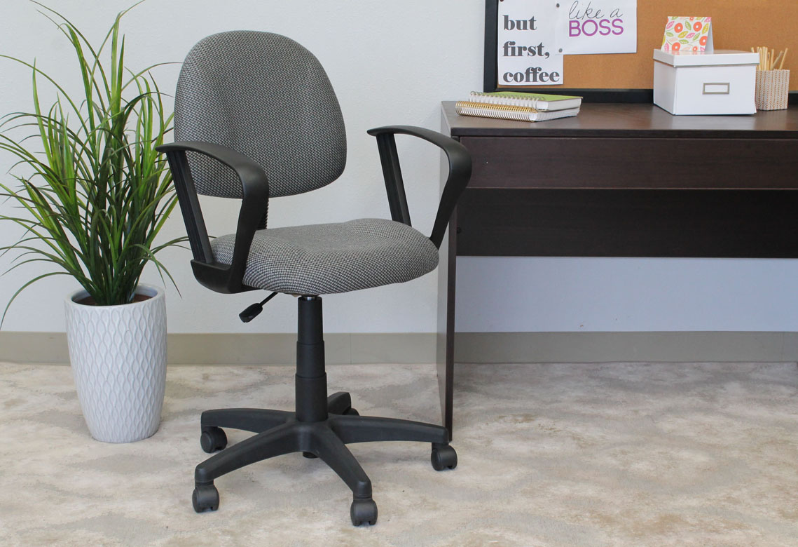 posture task chair vintage cane back chairs boss perfect deluxe office with loop