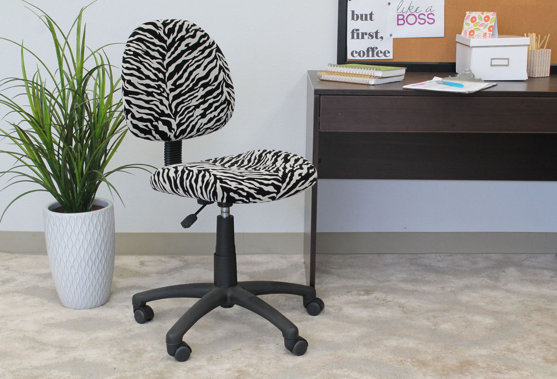 posture deluxe chair covers peterborough boss perfect modern microfiber home office without arms zebra