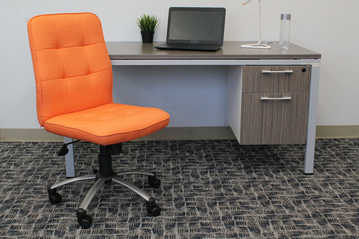 office chair orange desk heater modern  bosschair
