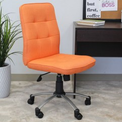 Office Chair Orange Folding Measurements Modern  Bosschair
