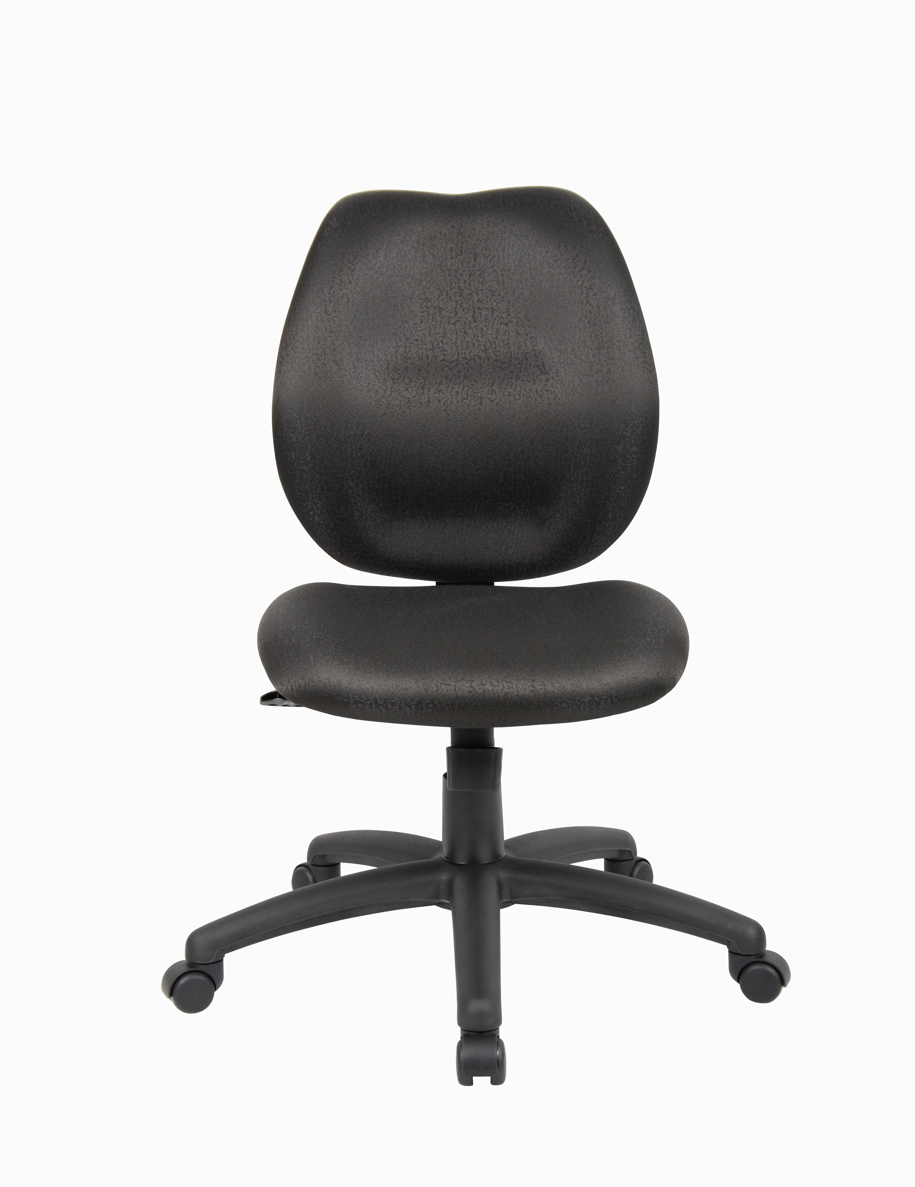 office chair without arms phil and ted lobster recall boss mid back task black