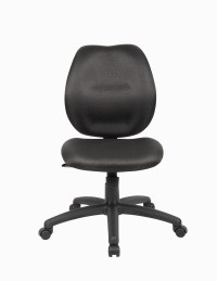 Boss Mid-Back Task Office Chair without Arms, Black ...