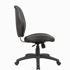 Task Chair Without Arms Kitchen Chairs Target Boss Mid Back Office Black