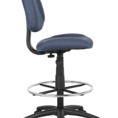 Office Chair Without Arms Adult High Boss Ergonomic Works Adustable Drafting Blue