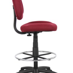 Ergonomic Drafting Chair With Arms Wheelchair Parts Boss Works Adustable Without Arms, Burgundy – Bosschair