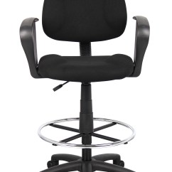 Ergonomic Drafting Chair With Arms Custom Slipcovers For And A Half Boss Works Adustable Loop