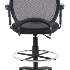 Ergonomic Drafting Chair With Arms Armrest Boss Mesh Stool W Adjustable  Bosschair