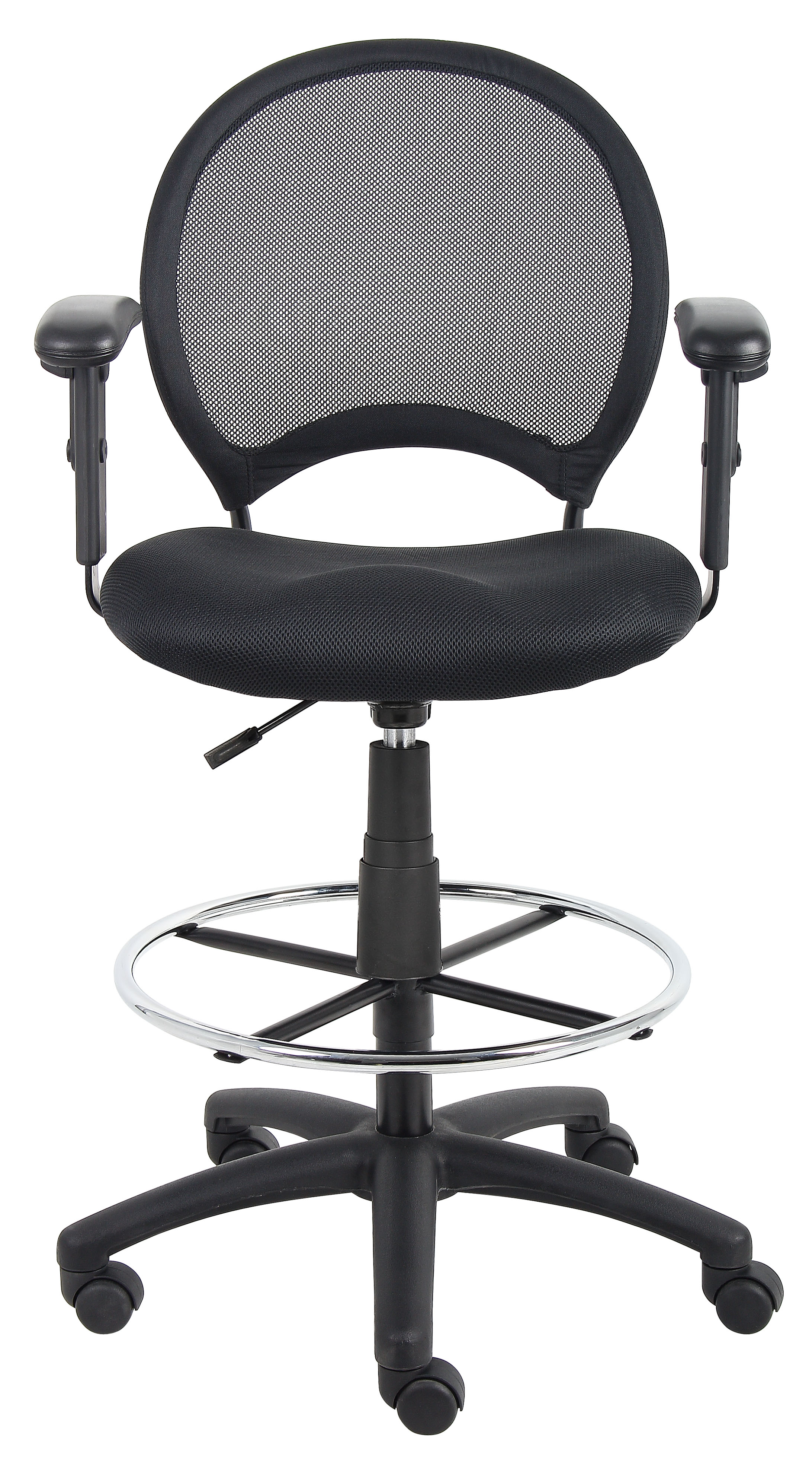 drafting chairs with arms exercise ball as desk chair boss mesh stool w adjustable  bosschair