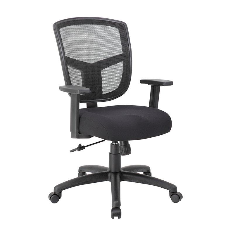 mesh task chair outdoor reclining lounge chairs boss contract synchro tilt mechanism bosschair