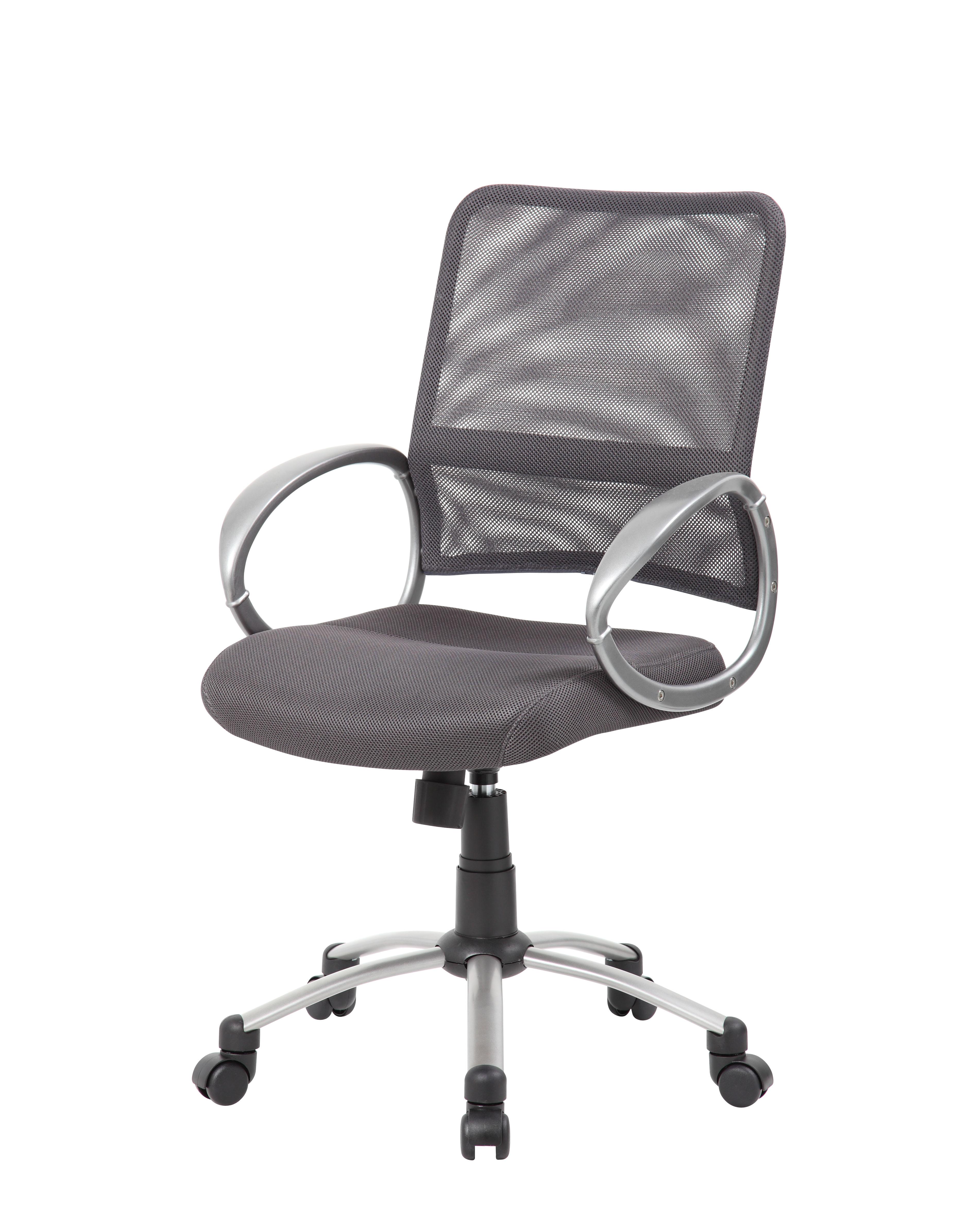 pewter chair ergonomic store boss mesh back w finish task  bosschair