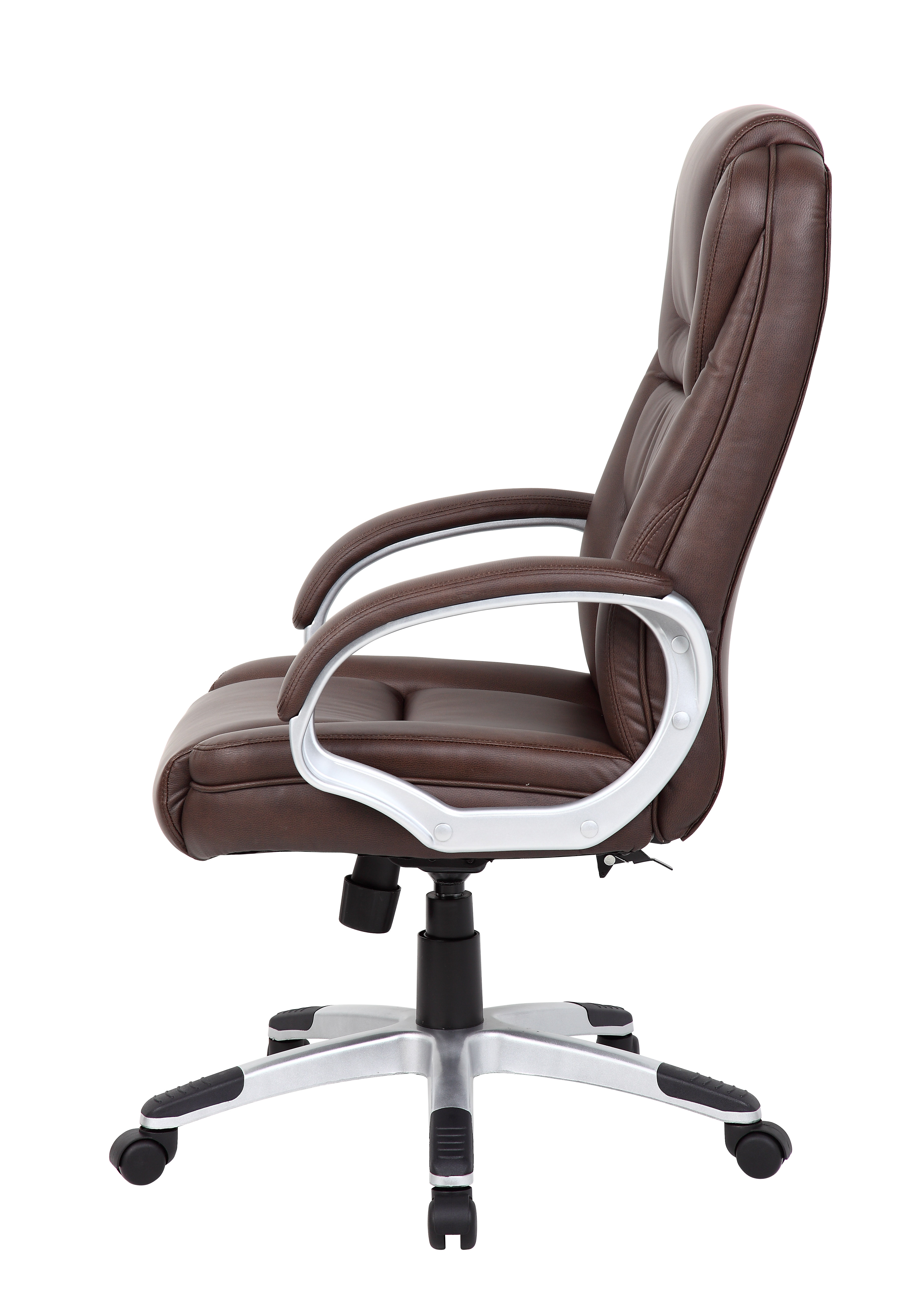 boss ntr executive leatherplus chair horseshoe rocking brown  bosschair