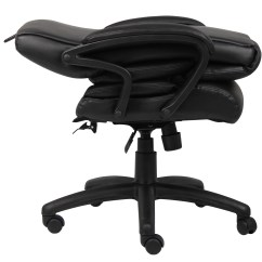 Boss Ntr Executive Leatherplus Chair Best Bouncy For Infants Top Grain Leather  Bosschair