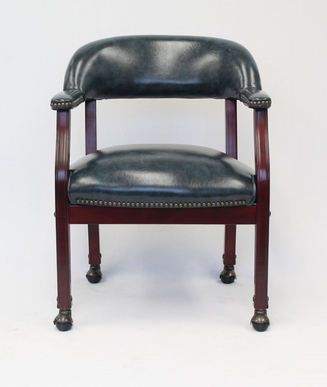 captains chair big lots kitchen chairs boss ivy league executive captain s in vinyl with casters blue
