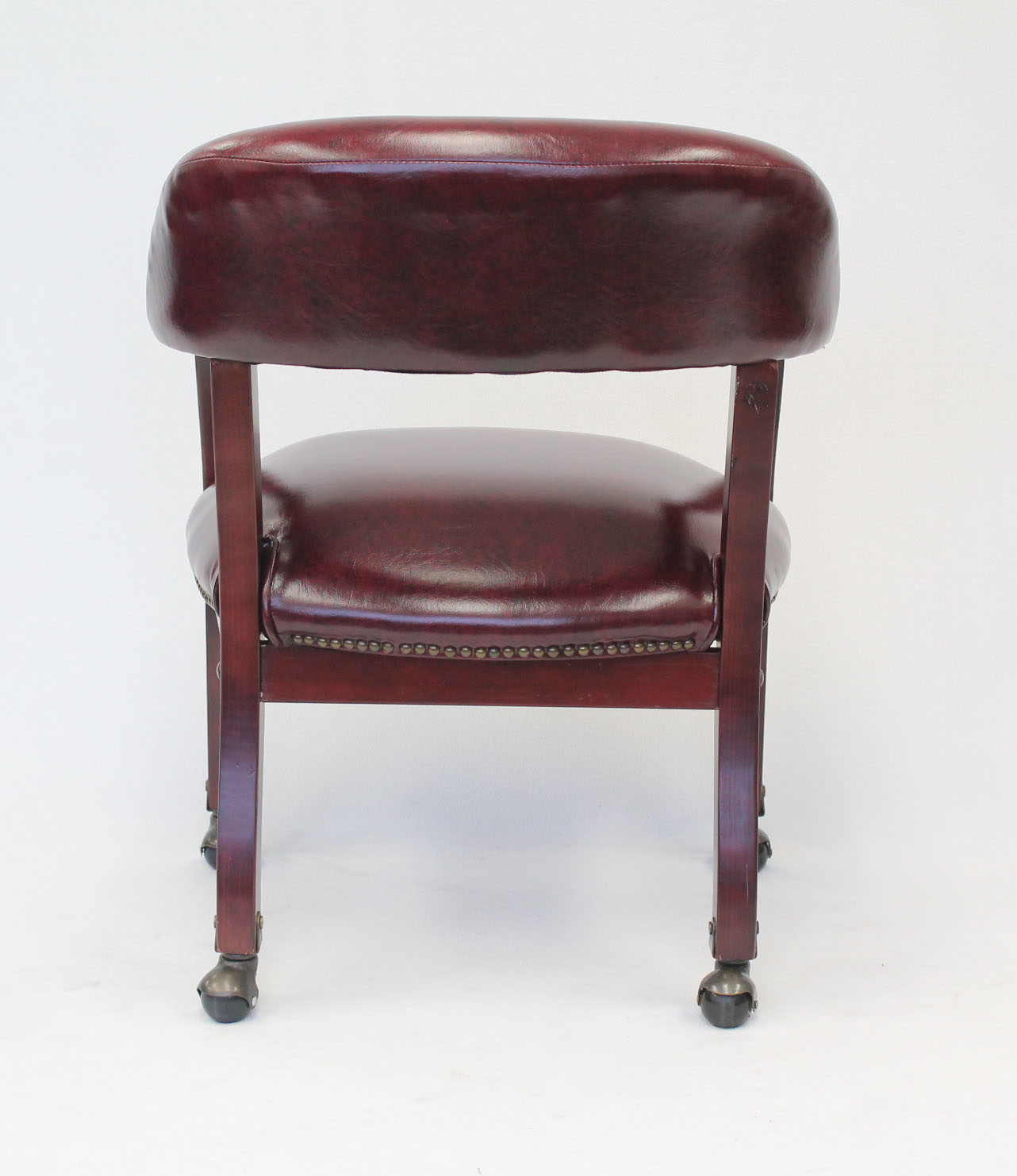 captains chair cane for repair boss ivy league executive captain s in vinyl with casters burgundy