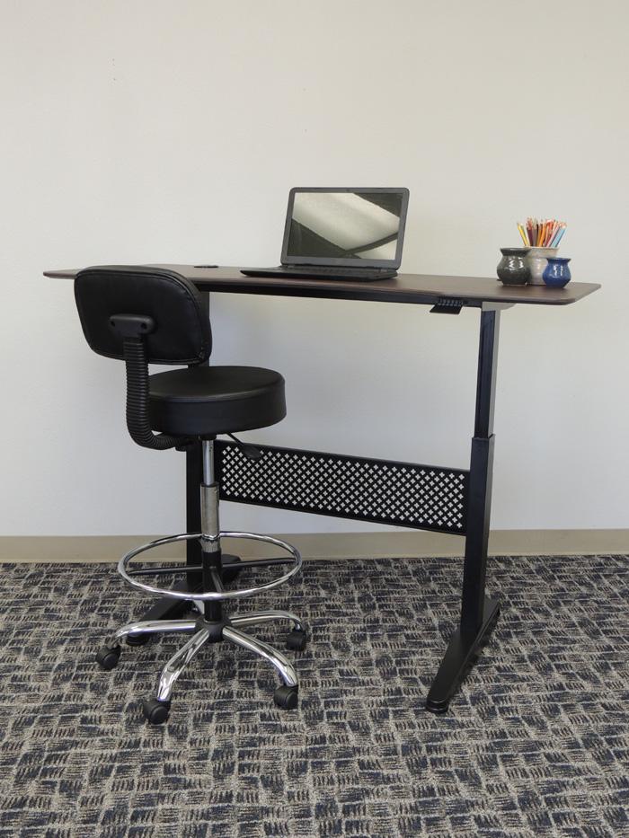 Boss Height Adjustable Desk 60 x 255 Mocha  BossChair
