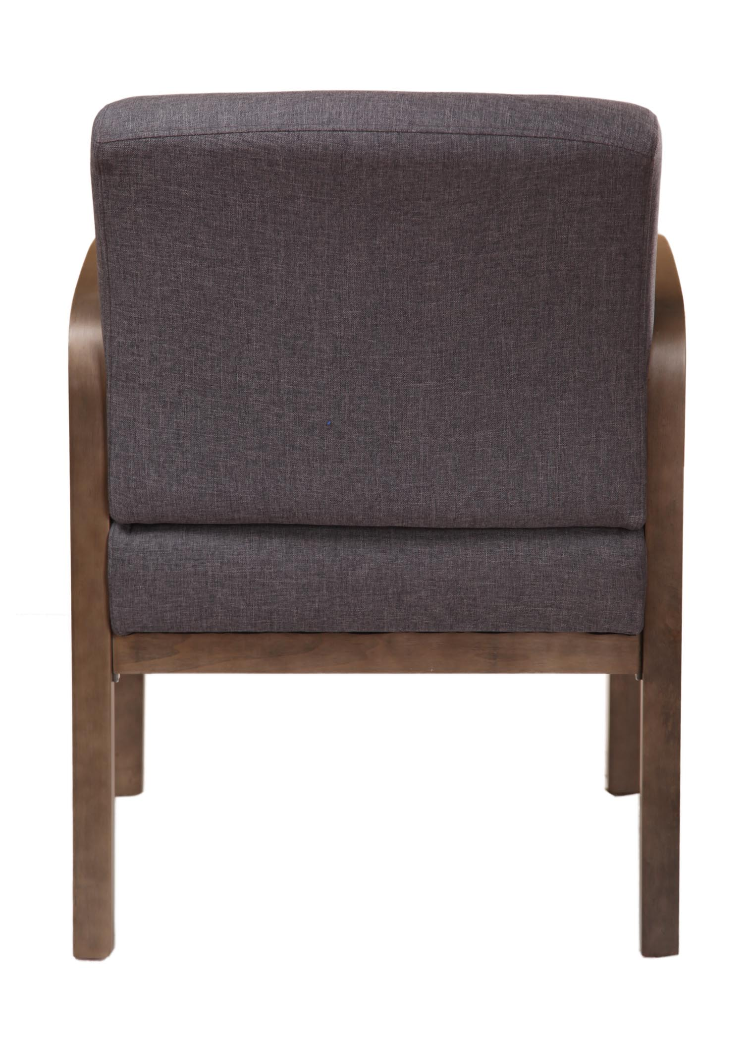 boss ntr executive leatherplus chair clear polycarbonate no tools required guest slate grey  bosschair